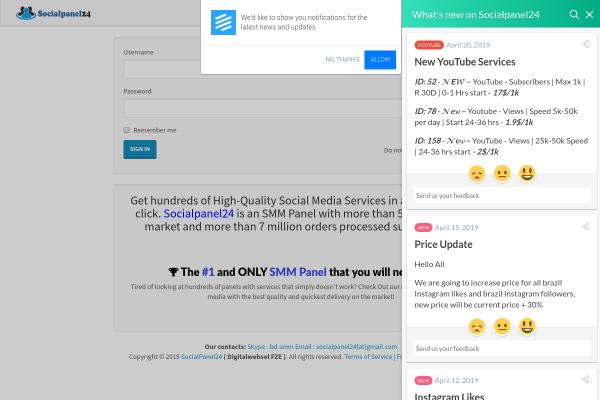All Socialpanel24 Services - SMM Panels - CompareSMM com